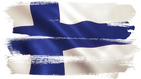Finland Flag Waving - Germany Background. Finland flag waving full frame background texture Royalty Free Stock Images