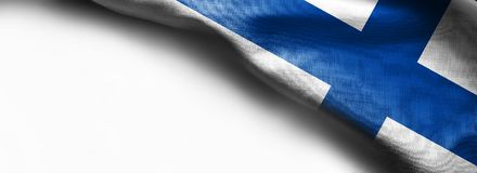Finland Flag on white background -. Right top corner flag Royalty Free Stock Images