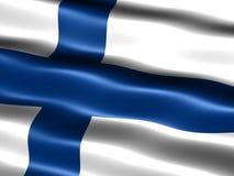 finland flagga Royaltyfria Bilder