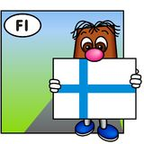 finland flagga royaltyfri illustrationer