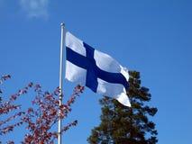 finland flagga Arkivbild