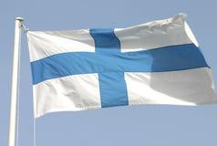 finland flagga s Royaltyfri Bild