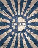Finland flaggabegrepp royaltyfria bilder
