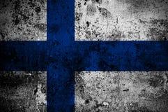 finland flaggagrunge Arkivfoto