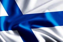 Finland flaggaillustration vektor illustrationer