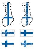 finland flaggaset Royaltyfri Foto