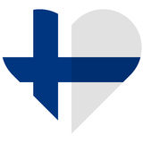 Finland flat heart flag Royalty Free Stock Photos