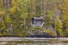 Finland forest landscape at Pieni Karhunkierros trail. Autumn se Stock Photos