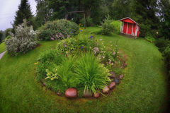Finland garden backyard Stock Image