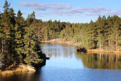 Finland: General landscape and lake Royalty Free Stock Images