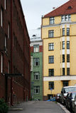 Finland: Generic view in Helsinki. Typical street view in the capital of Finland - Helsinki Stock Photo