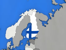 Finland on globe Stock Image