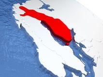 Finland on globe Stock Image