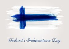 Finland`s Independence day. Finland grunge flag background. Independence day template design Royalty Free Stock Photo