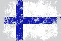 Finland grunge, old, scratched style flag Stock Photography