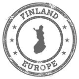 Finland grunge rubber stamp map and text. Royalty Free Stock Image