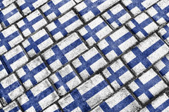 Finland Grunge Seamless Pattern. Finland national flag motif seamless pattern in grunge style design Stock Images