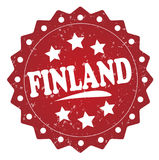Finland grunge stamp. Finland red grunge stamp on white Royalty Free Stock Photography
