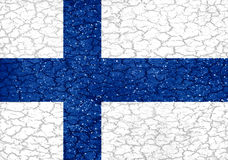 Finland Grunge Style National Flag. Finland national flag in grunge style design Stock Photos