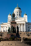 Finland Helsinki Cathedral And Monument To Alexander II Royalty Free Stock Photo
