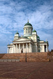 Finland. Helsinki. Cathedral. The St. Nicholas Cathedral or simply Cathedral - one of the symbols of the city Stock Photo