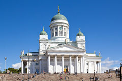 Finland, Helsinki, Cathedral. White Cathedral in Helsinki, Finland Stock Photography