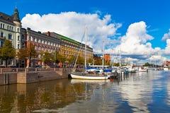 finland helsinki gammal port Arkivfoton