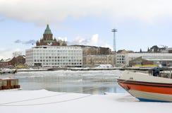 finland helsinki katajanokkasikt Arkivfoto