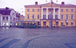 Finland, Helsinki, landschapsaantrekkelijkheden Het Vierkant van de senaat Het stemmen, stock foto's