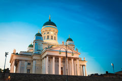 Finland Helsinki Lutheran Cathedral Famous Landmark Dome Building Royalty Free Stock Images