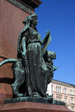 Finland Helsinki, monument in main square. Finland Helsinki City center statue detail of monument in main square Royalty Free Stock Photography