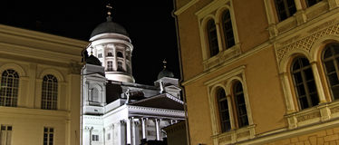 Finland: Helsinki by night Stock Images
