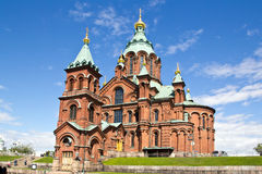 Finland, Helsinki, Uspenski Cathedral. Famous Uspenski Cathedral in Helsinki, Finland Royalty Free Stock Photography