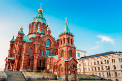 finland Helsinki Uspenski Ortodoksalna katedra Na zbocze, Chu Fotografia Royalty Free