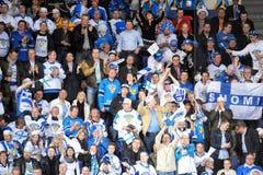 Finland ice hockey fans Royalty Free Stock Photos