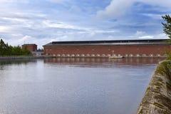 finland Imatra Byggnad för vattenkraftstation Royaltyfria Bilder
