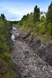 Finland. Imatra. Dry Riverbed of Vuoksa River Royalty Free Stock Photo