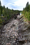 Finland. Imatra. Dry Riverbed of Vuoksa River Stock Photos
