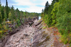 Finland. Imatra. Dry Riverbed of Vuoksa River Stock Photography