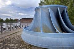 finland Imatra La turbine près de la centrale hydroélectrique Image libre de droits