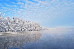 Finland. Imatra reservoir in winter Royalty Free Stock Photography