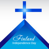 Finland Independence Day. Creative banner or poster For Finland Independence Day Stock Photo
