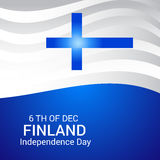 Finland Independence Day. Creative banner or poster For Finland Independence Day Stock Images