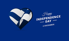 Finland Independence Day. 6 December. Waving flag in heart. Vector illustration. Finland Independence Day. 6 December. Waving flag in heart. Vector Stock Photos