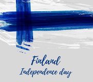 Finland Independence day. Finland grunge flag background. Independence day template design Royalty Free Stock Photography