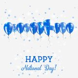 Finland Independence Day Sparkling Patriotic. Finland Independence Day Sparkling Patriotic Poster. Happy Independence Day Card with Finland Flags, Confetti Royalty Free Stock Photos