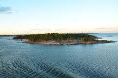 Finland. The islands surrounding the coast are beautiful with a stock photo