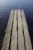 Finland: Jetty by a lake Royalty Free Stock Photos