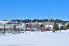 Finland. Jyvaskyla harbor Stock Photo