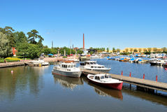 Finland. Kotka  Harbor Royalty Free Stock Image